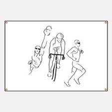 Triathlon Man Banner
