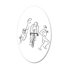 Triathlon Man Wall Decal