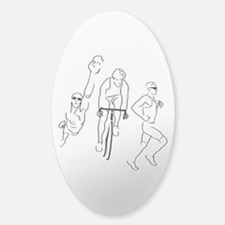 Triathlon Man Decal
