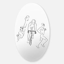 Triathlon Man Sticker (Oval)