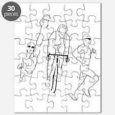 Triathlon Man Puzzle