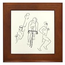 Triathlon Man Framed Tile