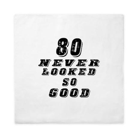 80 Birthday Designs Queen Duvet
