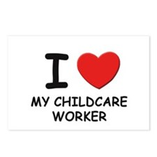 I love childcare workers Postcards (Package of 8)