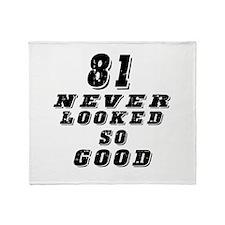 81 Birthday Designs Throw Blanket