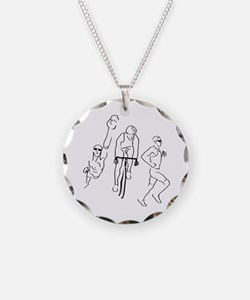 Triathlon Man Necklace
