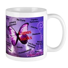 Lupus Sucks Small Mug
