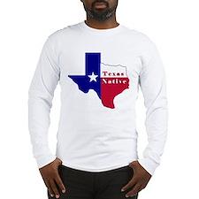 Texas Native Flag Map Long Sleeve T-Shirt