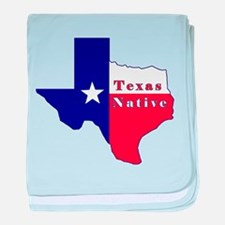 Texas Native Flag Map baby blanket