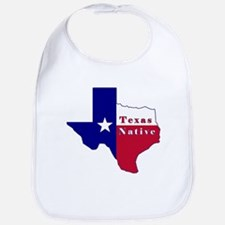 Texas Native Flag Map Bib