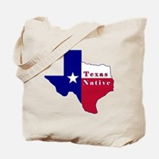 Texas Native Flag Map Tote Bag