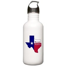 Texas Native Flag Map Water Bottle