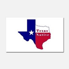Texas Native Flag Map Car Magnet 20 x 12