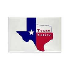 Texas Native Flag Map Rectangle Magnet