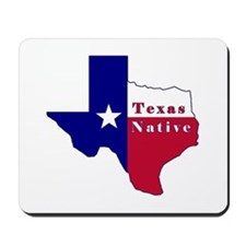 Texas Native Flag Map Mousepad