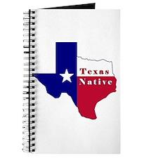 Texas Native Flag Map Journal