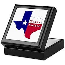 Texas Native Flag Map Keepsake Box