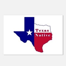 Texas Native Flag Map Postcards (Package of 8)