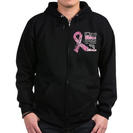 Sister-in-Law Breast Cancer Zip Hoodie (dark)