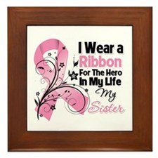 Sister Hero Breast Cancer Framed Tile