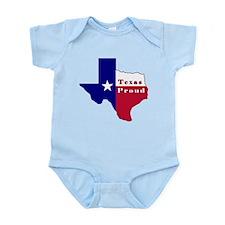 Texas Proud Flag Map Infant Bodysuit