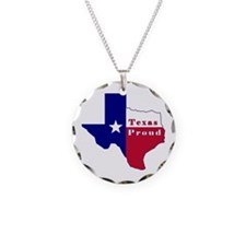 Texas Proud Flag Map Necklace