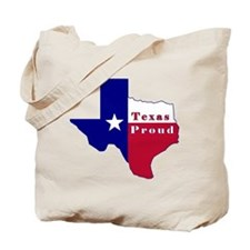 Texas Proud Flag Map Tote Bag
