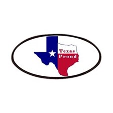 Texas Proud Flag Map Patches