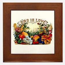 God Is Love Framed Tile