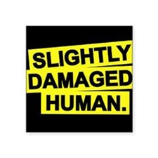 Slightly Damaged Human Sticker