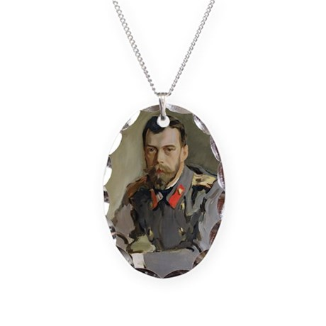 0 @oil on canvasA - Necklace Oval Charm