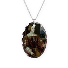 ella of Portugal, 1548 - Necklace Oval Charm