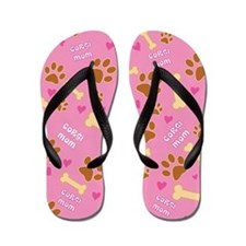 Corgi Mom Gift Flip Flops