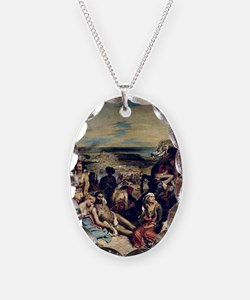 Chios, 1822 @oil on canvasA - Necklace Oval Charm