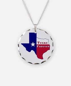 Texas Forever Flag Map Necklace