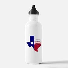 Texas Forever Flag Map Water Bottle
