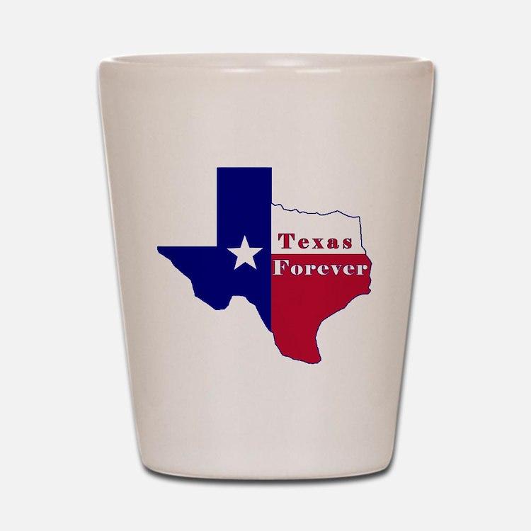 Texas Forever Flag Map Shot Glass