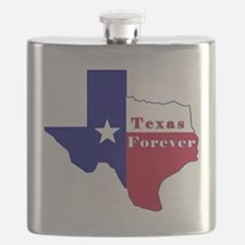 Texas Forever Flag Map Flask