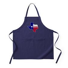 Texas Forever Flag Map Apron (dark)