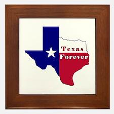 Texas Forever Flag Map Framed Tile