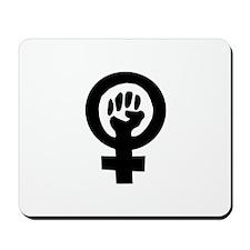 Feminist Fist - Feminist Pride Mousepad