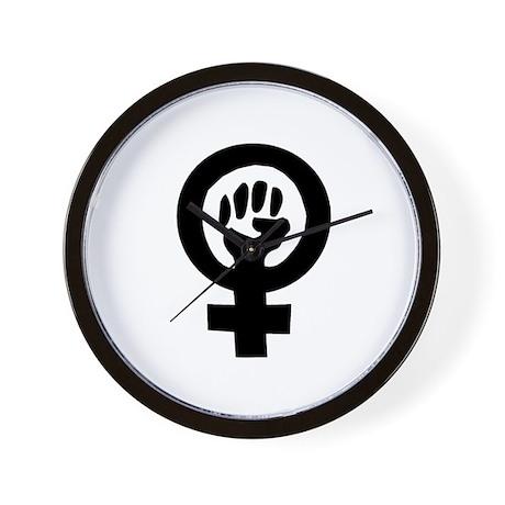 Feminist Fist - Feminist Pride Wall Clock