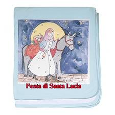 Festa di Santa Lucia baby blanket