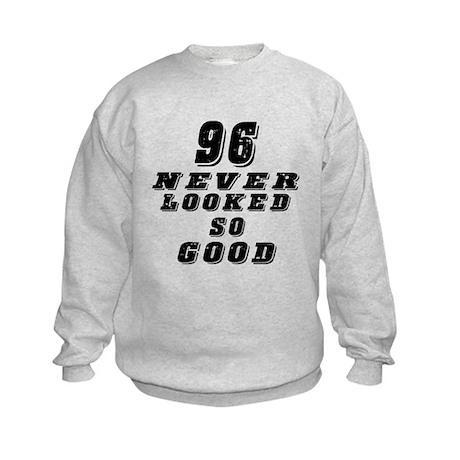96 Birthday Designs Kids Sweatshirt
