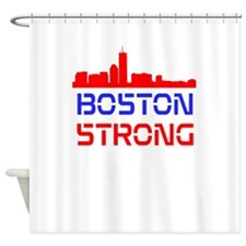 Boston Strong Skyline Red White and Blue Shower Cu