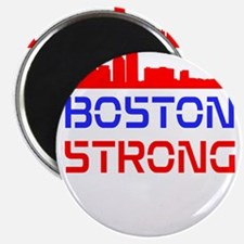 Boston Strong Skyline Red White and Blue Magnet