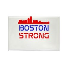 Boston Strong Skyline Red White and Blue Rectangle