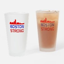 Boston Strong Skyline Red White and Blue Drinking