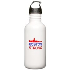 Boston Strong Skyline Red White and Blue Water Bot