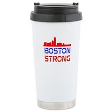 Boston Strong Skyline Red White and Blue Travel Mu
